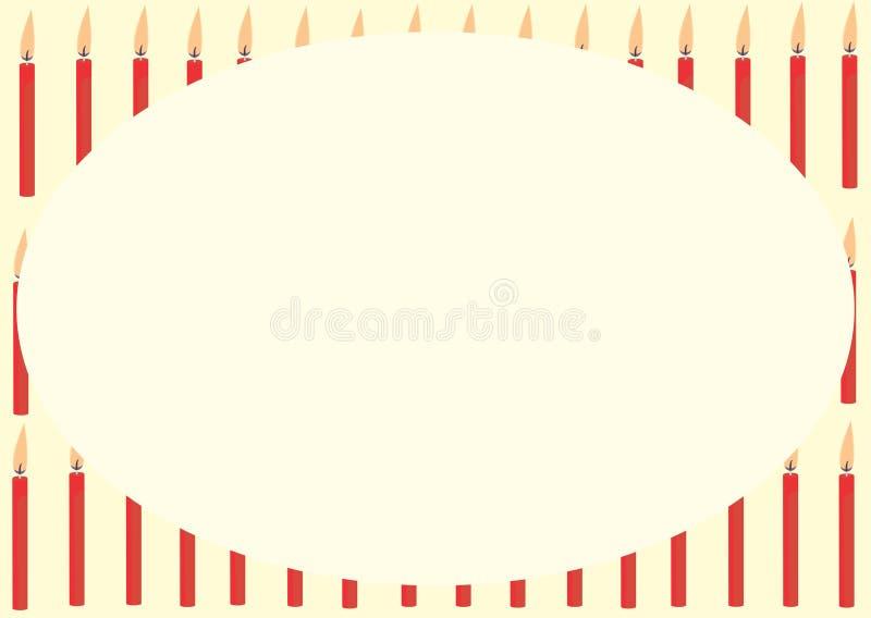 Tarjeta con las velas rojas fotos de archivo libres de regalías