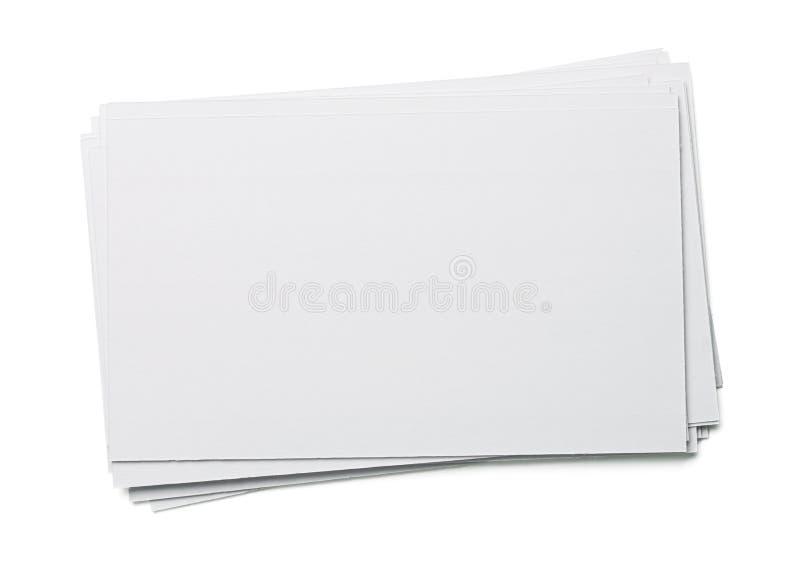 Tarjeta de índice en blanco fotos de archivo