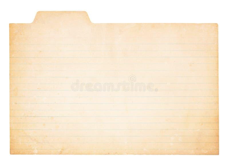 Tarjeta de índice tabulada vendimia imagen de archivo libre de regalías
