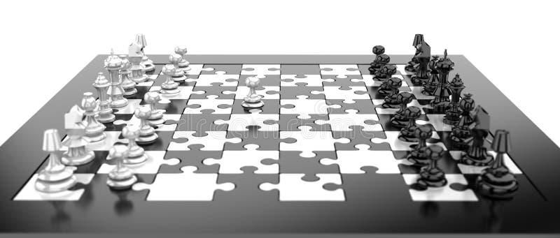 Tarjeta de ajedrez stock de ilustración