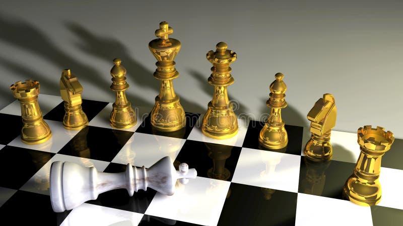 Tarjeta de ajedrez ilustración del vector