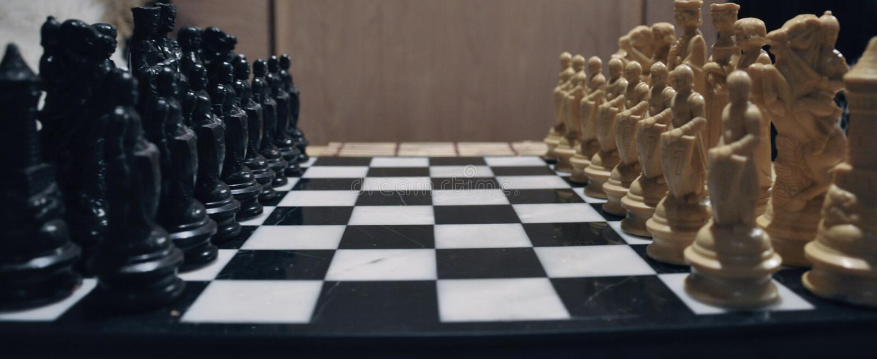 Tarjeta de ajedrez imagen de archivo