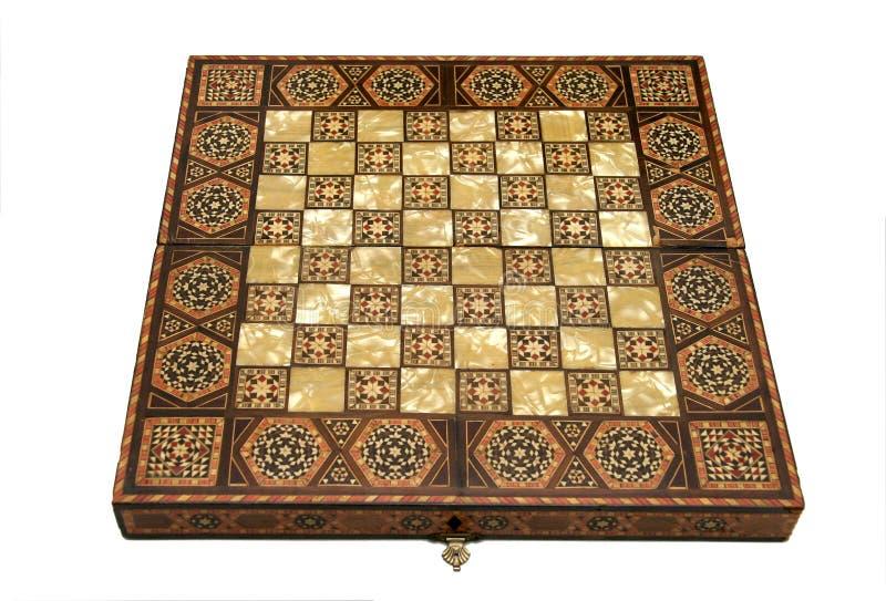 Tarjeta de ajedrez antigua foto de archivo