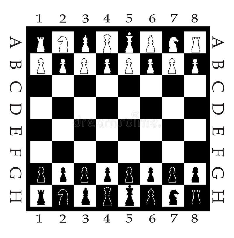 Tablero de ajedrez con la figura del ajedrez libre illustration