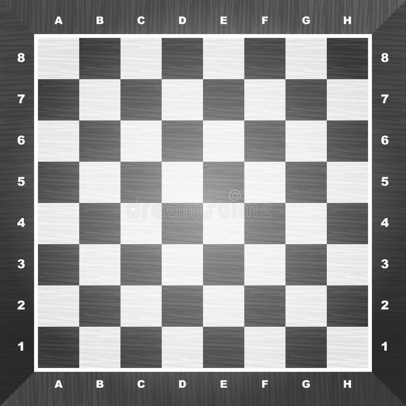 Tarjeta de ajedrez vacía ilustración del vector