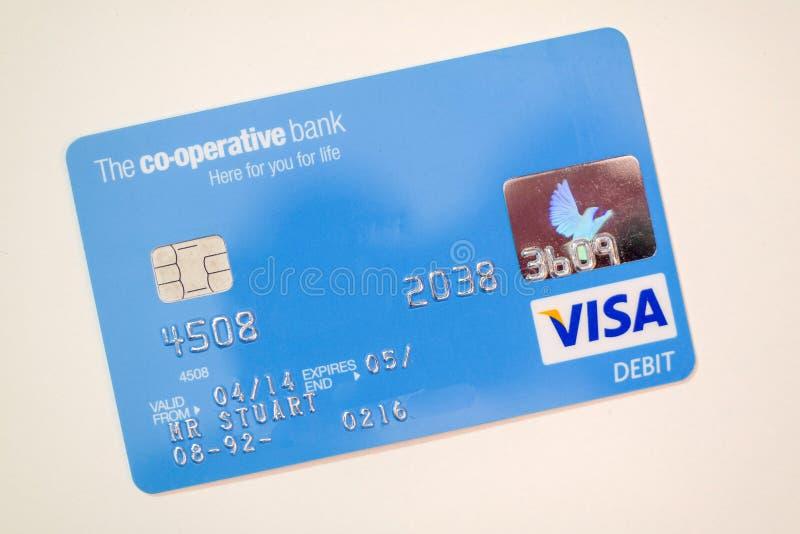 Tarjeta de banco cooperativo imagen de archivo