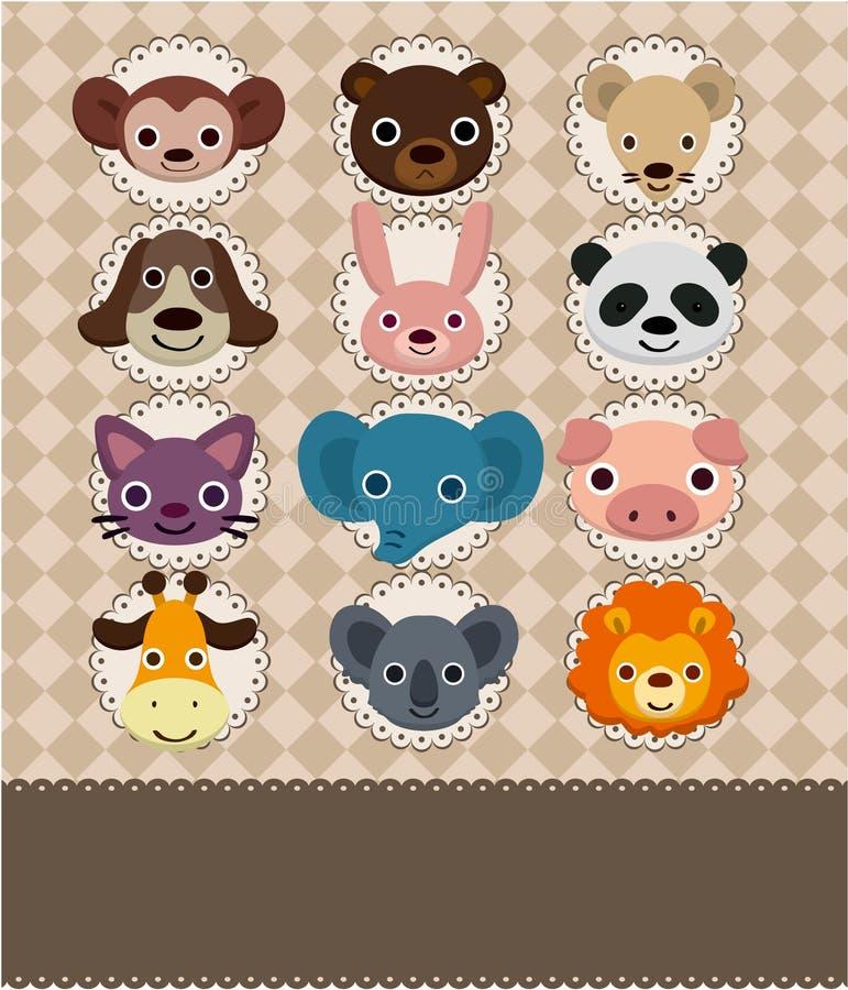 Tarjeta de cara animal libre illustration