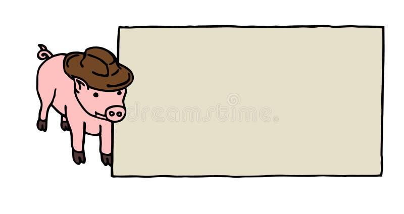 Tarjeta de cerdo libre illustration