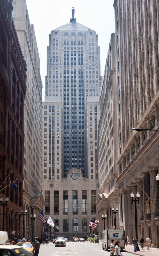 Tarjeta de Chicago del comercio fotografía de archivo libre de regalías