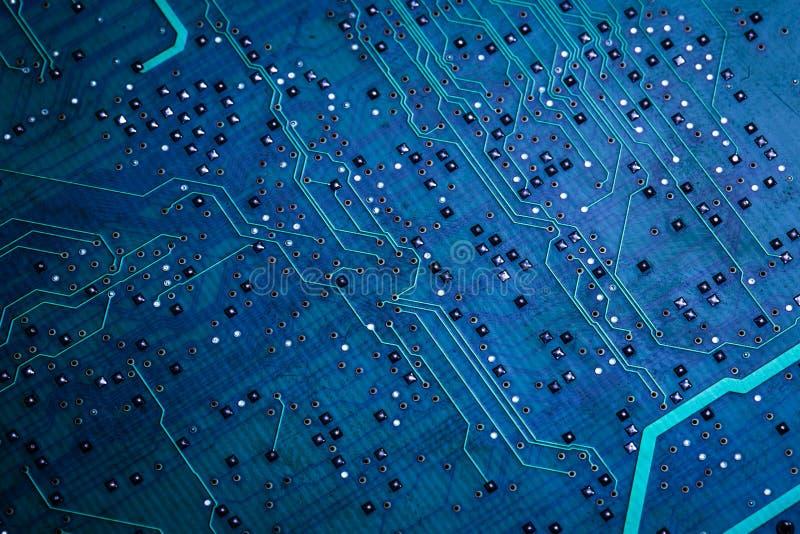 Tarjeta de circuito de computadora azul impresa fotos de archivo libres de regalías
