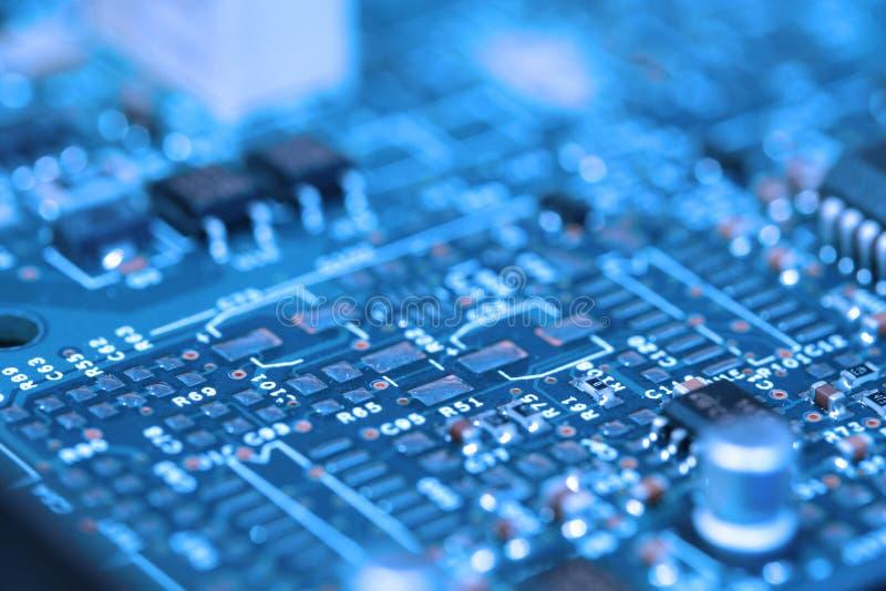 Tarjeta de circuitos 2 - azul filtrado foto de archivo libre de regalías