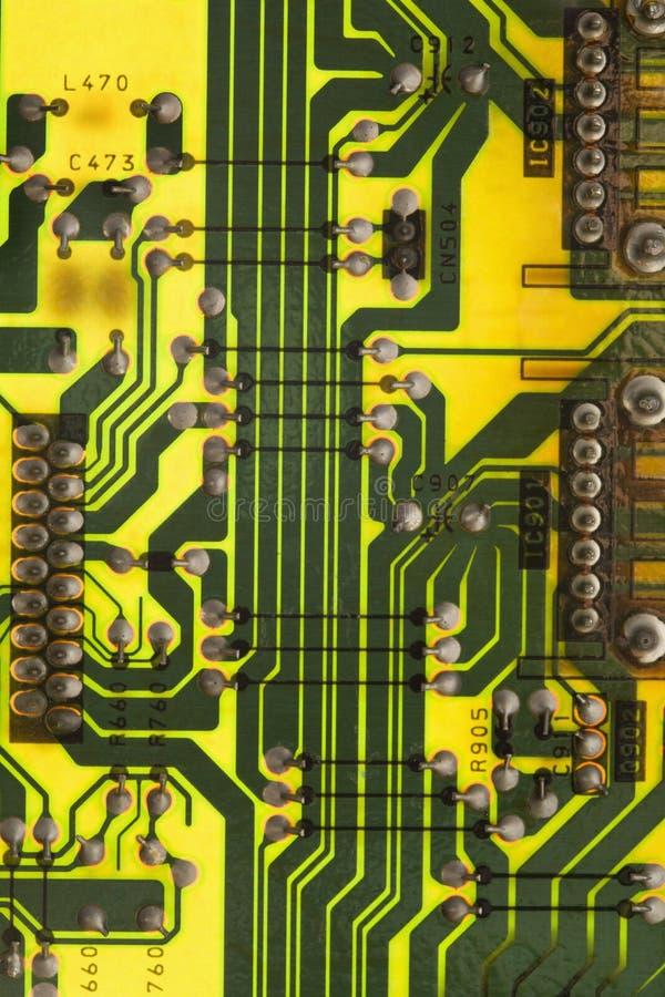 Tarjeta de circuitos. imagen de archivo