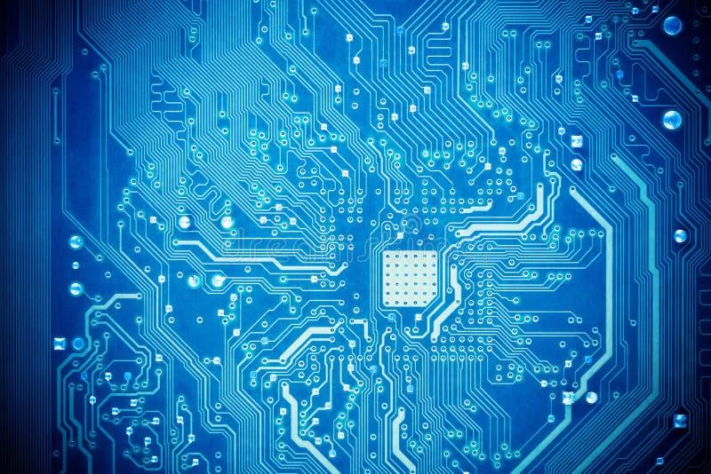 Tarjeta de circuitos azul foto de archivo libre de regalías