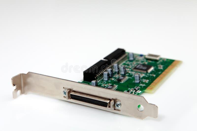Tarjeta de circuitos con el conector imagen de archivo