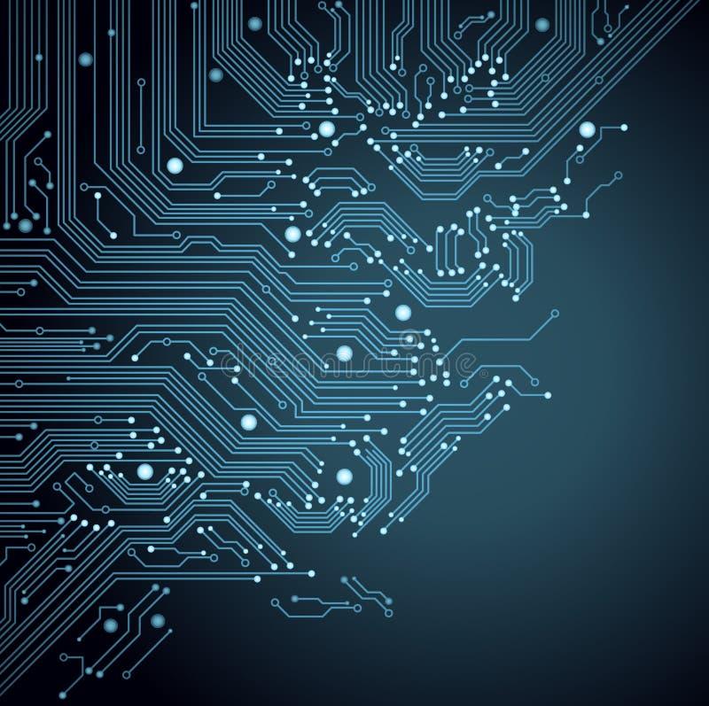 Tarjeta de circuitos del fondo ilustración del vector