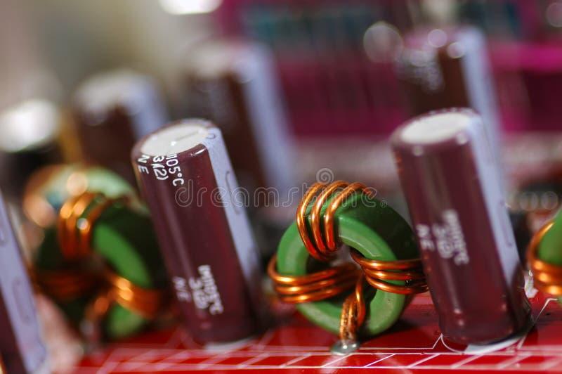 Tarjeta de circuitos electrónicos fotografía de archivo libre de regalías
