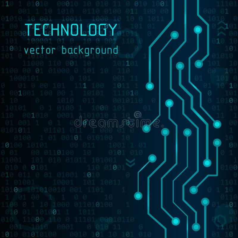 Tarjeta de circuitos Fondo del vector de Technlogy Ejemplo futurista abstracto Concepto de alta tecnología libre illustration