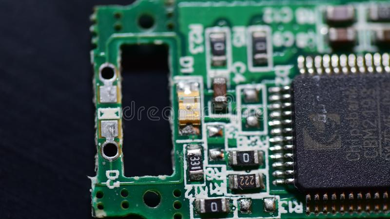 Tarjeta de circuitos genérica foto de archivo