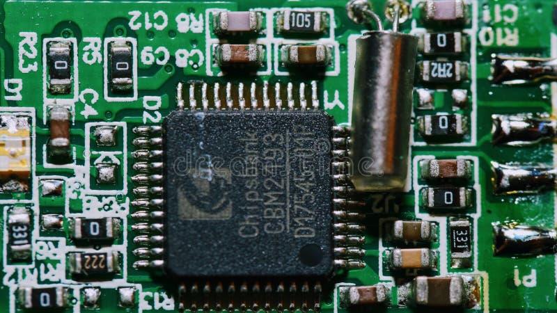Tarjeta de circuitos genérica foto de archivo libre de regalías