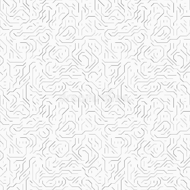 Tarjeta de circuitos de ordenador ilustración del vector