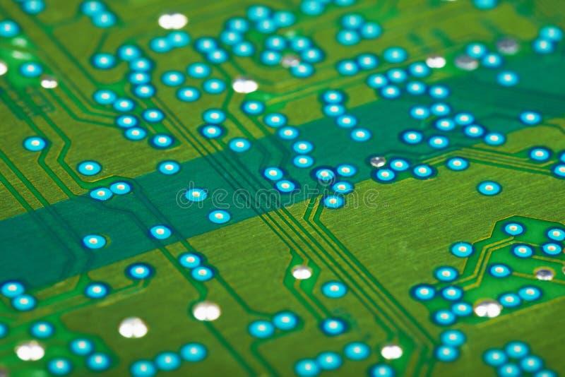 Tarjeta de circuitos verde electrónica fotos de archivo libres de regalías