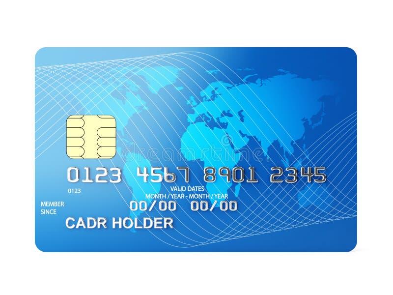 Tarjeta de crédito ilustración del vector