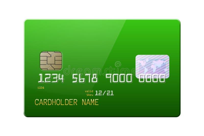 Tarjeta de crédito brillante realista altamente detallada ilustración del vector