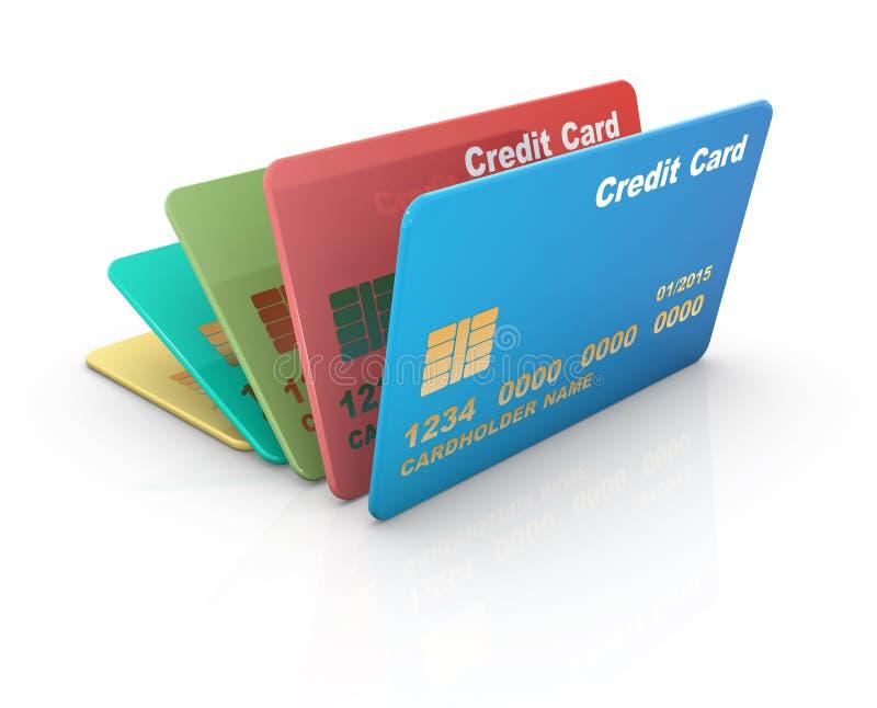 Tarjeta de crédito colorida ilustración del vector