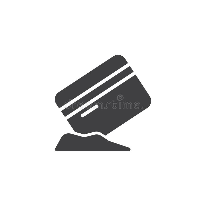 Tarjeta de crédito con el icono del vector de la cocaína libre illustration