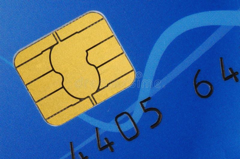 Tarjeta de crédito con el microprocesador fotografía de archivo libre de regalías