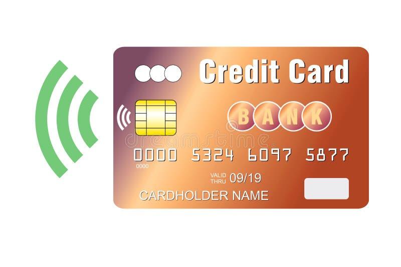 Tarjeta de crédito con el microprocesador sin contacto del pago imagen de archivo libre de regalías