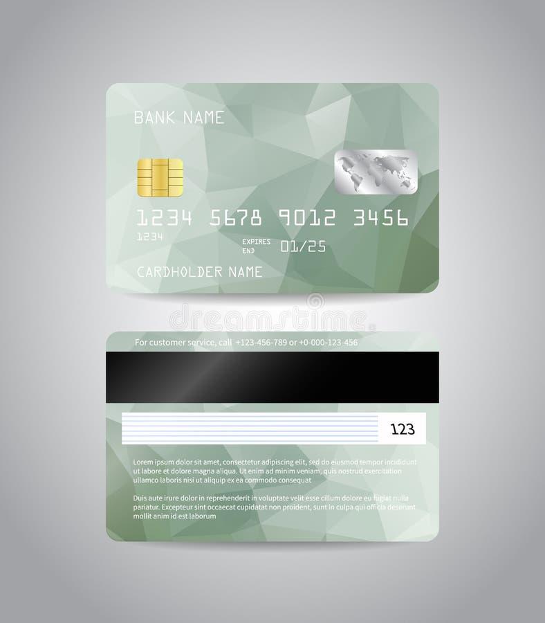 Tarjeta de crédito detallada realista libre illustration