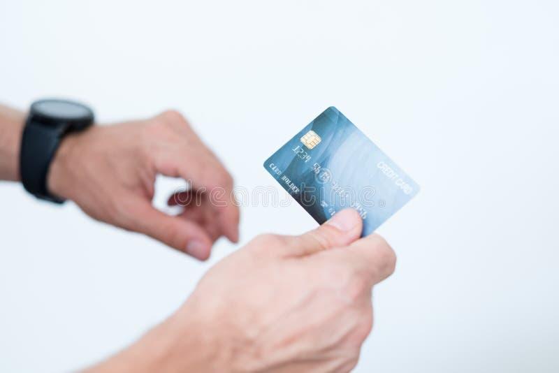 Tarjeta de crédito en línea de la transacción del pago digital de Nfc fotos de archivo
