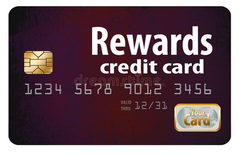 tarjeta de crédito de las recompensas stock de ilustración