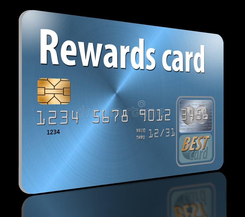 tarjeta de crédito de las recompensas ilustración del vector