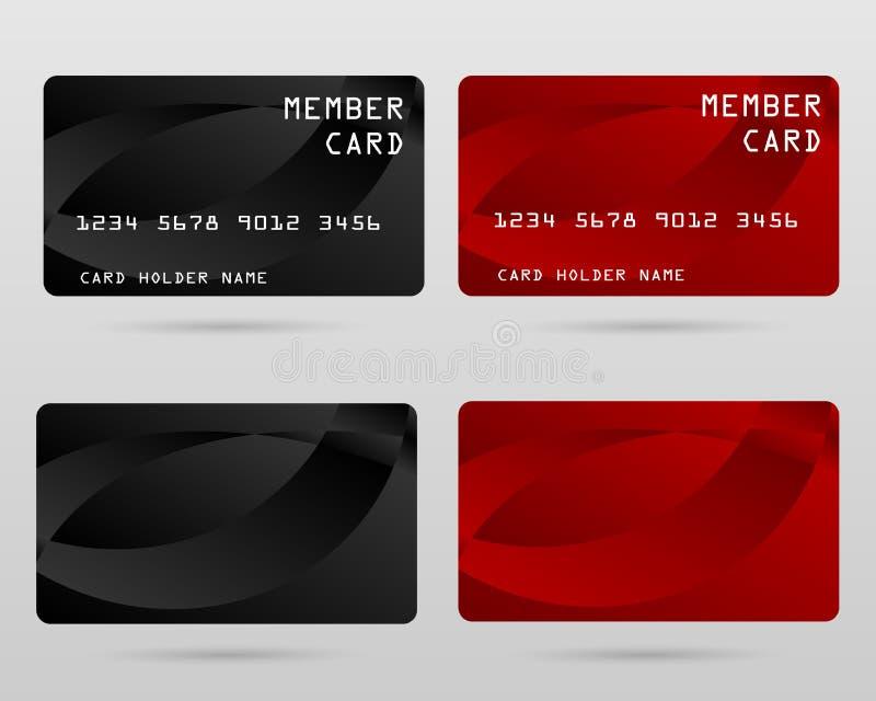 Tarjeta de crédito moderna, tarjeta del VIP del negocio, tarjeta del miembro imagen de archivo libre de regalías
