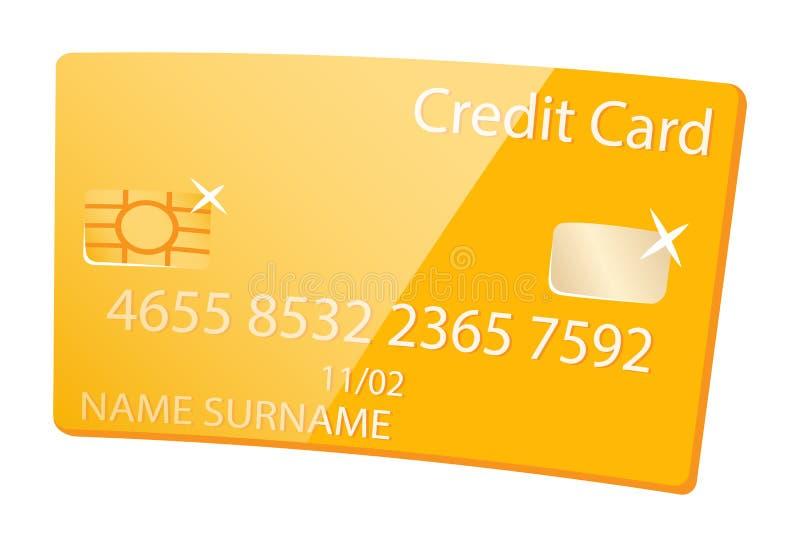 Tarjeta de crédito de oro, servicio del miembro del cliente del Vip ilustración del vector