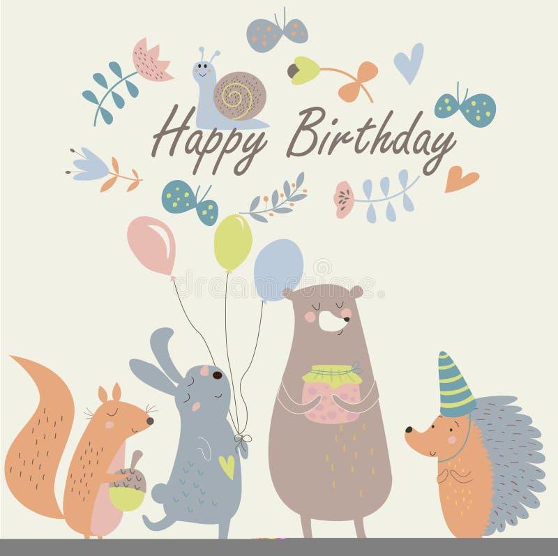 Tarjeta de cumpleaños libre illustration