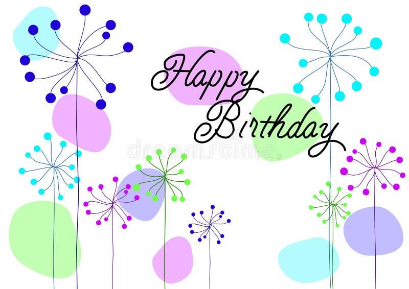 Tarjeta de cumpleaños del vector stock de ilustración