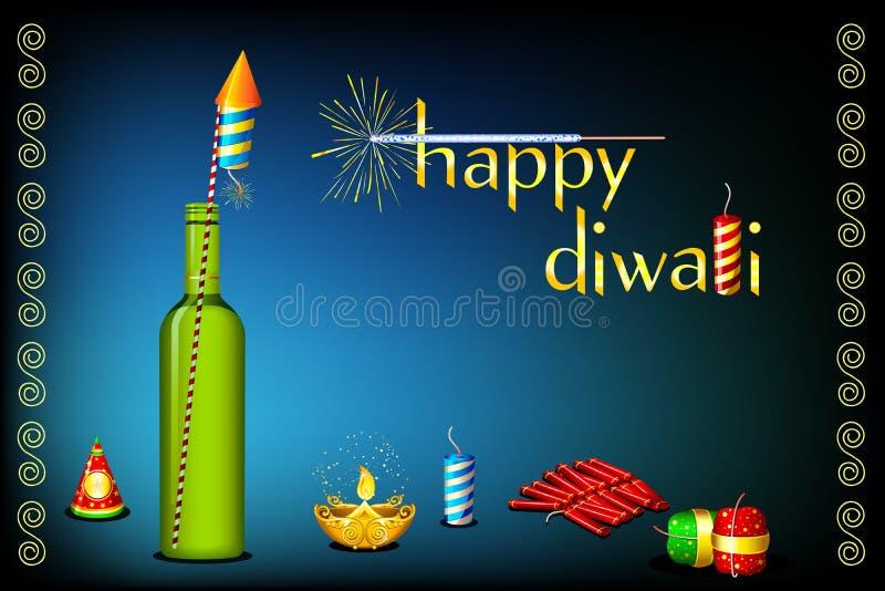 Tarjeta de Diwali stock de ilustración