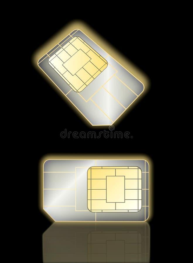 Tarjeta De Dos Sim Imagenes de archivo
