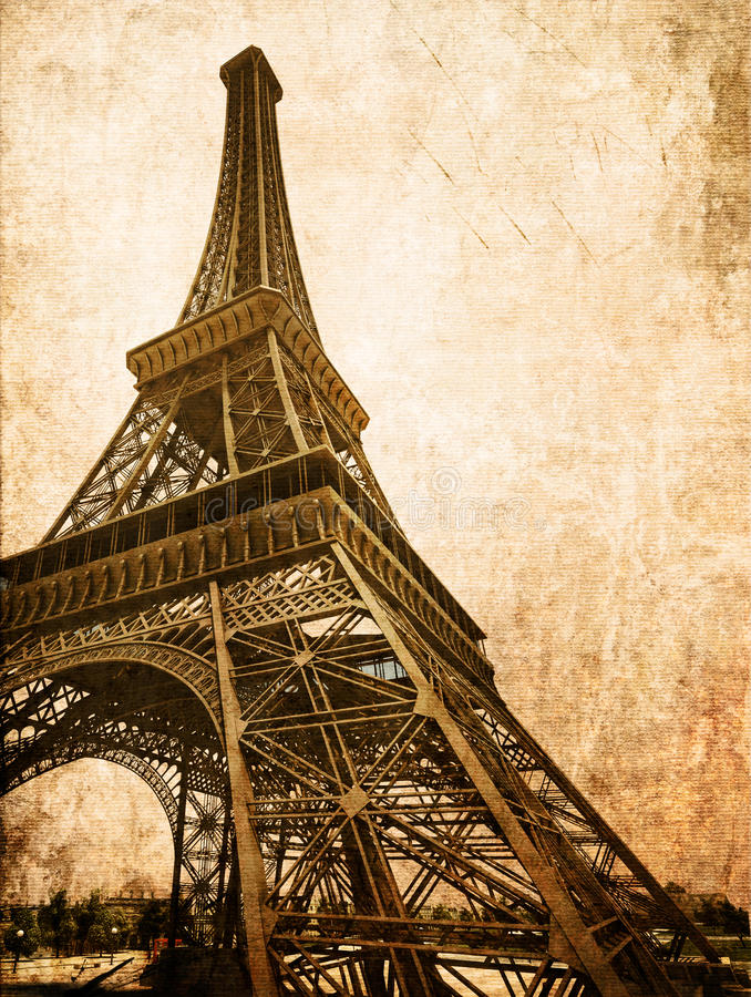 Tarjeta de Eiffel de la vendimia libre illustration