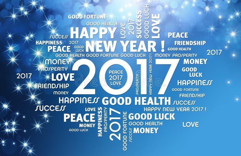 tarjeta 2017 de felicitación stock de ilustración