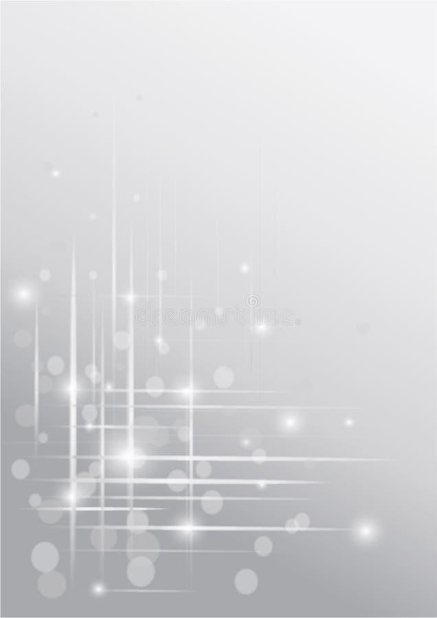 Tarjeta de felicitación abstracta con nieve imagen de archivo