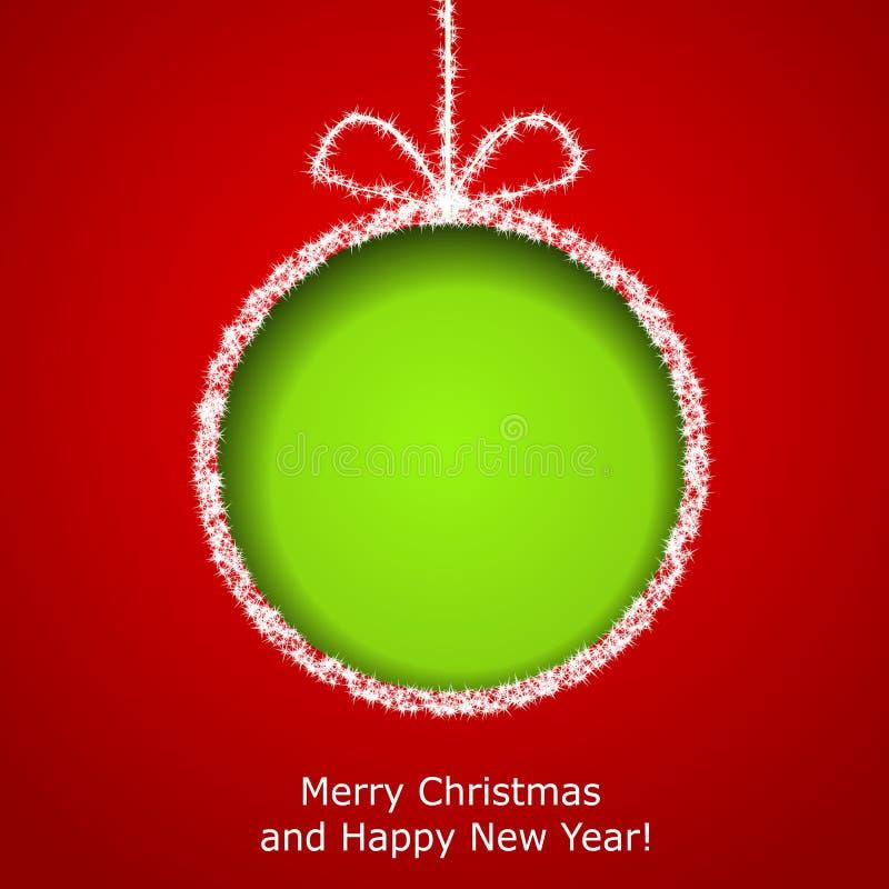 Tarjeta de felicitación abstracta de Navidad stock de ilustración