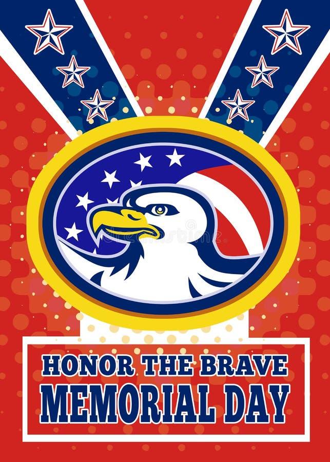 Tarjeta de felicitación americana del cartel del Memorial Day del águila libre illustration