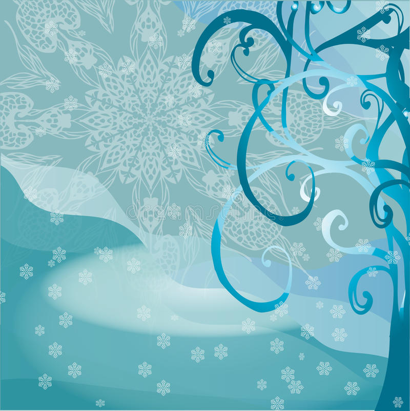 Tarjeta de felicitación con el árbol de navidad y lugar para el texto B abstracto ilustración del vector