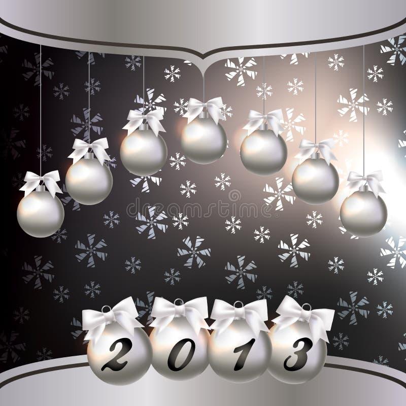 Tarjeta de felicitación con el Año Nuevo 2013 stock de ilustración