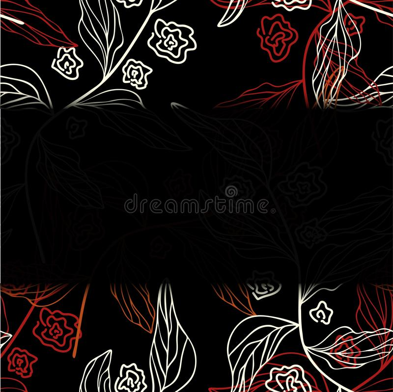 Tarjeta de felicitación con el ejemplo EPS 10 del vector de las rosas libre illustration