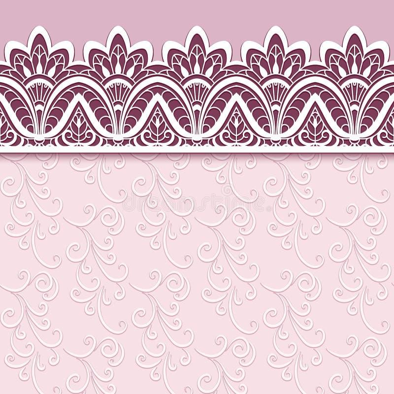 Tarjeta de felicitación con el ornamento del cordón de la frontera libre illustration